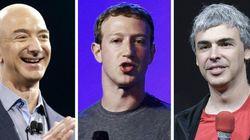 Amazon、Facebook、Google創業者が長者番付トップ10入り 総資産額は何兆円?