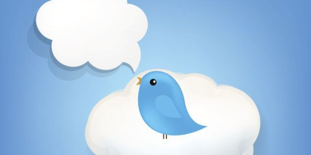 Cloud Icon With Bird With Gradient Mesh. Vector Illustration EPS10. Contains