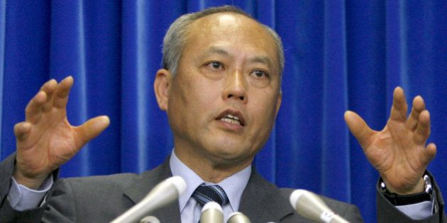 Japan's Health and Welfare Minister Yoichi Masuzoe speaks during a press conference on the first cases...