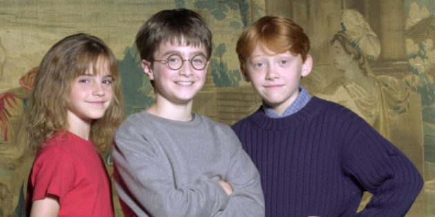 376506 01: Warner Bros. Pictures announced August 21, 2000 that the young actor Daniel Radcliffe, center,...