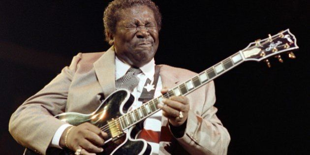 American blues musician B.B. King performs December 12, 1989 at the Bercy concert hall in Paris. AFP...