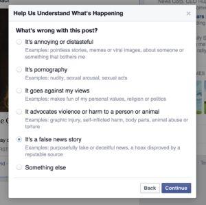 Facebook、インチキネタ投稿の排除を進める