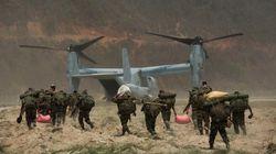 オスプレイ、ネパール支援中に屋根吹き飛ばし「使えない」と報じられる