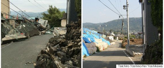 【熊本地震】熊本城、追悼の終夜ライトアップ 震災1年で「復興への思い」込める