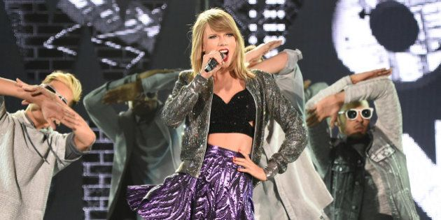 TOKYO, JAPAN - MAY 05: Taylor Swift performs during The 1989 World Tour at Tokyo Dome on May 5, 2015...