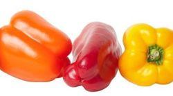 緑、赤、黄、オレンジ。パプリカは色でこんなに違いがあった