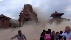 ネパール地震 崩れゆく寺院 観光客が捉えた(動画)