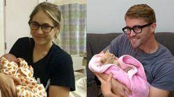 「双子の妹」みたいに、僕も家族写真を撮ってみた。......猫と(画像)