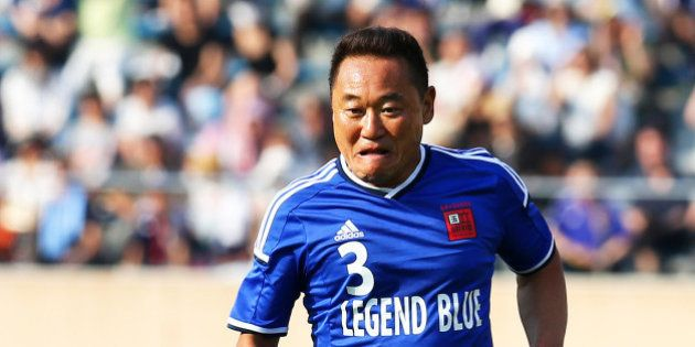 TOKYO, JAPAN - MAY 31: Yasutaro Matsuki in action during the Soccer Legends Match for the Sayonara National...