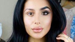 「メイクをバカにしないで」顔半分だけ化粧した顔を自撮りした(画像・動画)