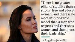 アンジェリーナ・ジョリー 女性のために男性ができることを訴える