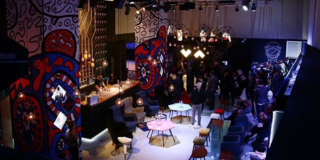 MILAN, ITALY - APRIL 17: Atmosphere during the #PepsiChallenge Round Table At The PepsiCo 'Mix It Up'...