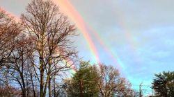 ほら、虹が4つも重なっているよ(画像)