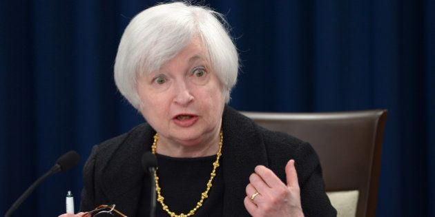 WASHINGTON D.C., Sept. 17, 2015-- U.S. Federal Reserve Chair Janet Yellen speaks during a press conference...