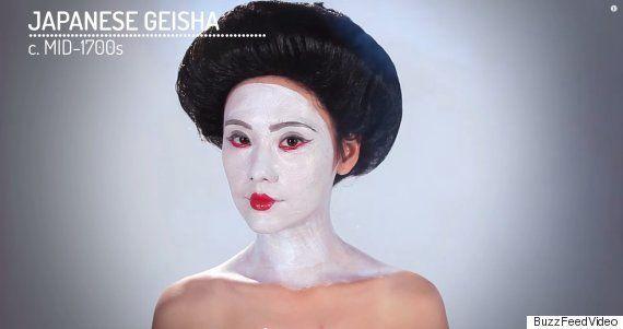 クレオパトラの時代から日本の芸者まで...このメイクが世界の女たちのトレンドだった(画像)