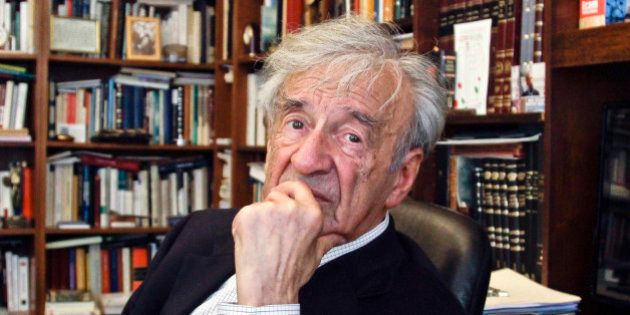 FILE - In this Sept. 12, 2012, photo Elie Wiesel is photographed in his office in New York. Wiesel, the...