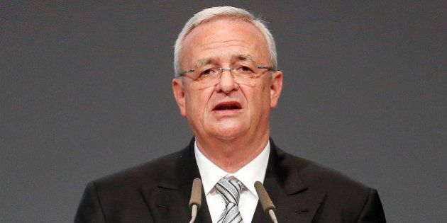 FILE - In a Tuesday, May 5, 2015 file photo, Volkswagen CEO Martin Winterkorn addresses the shareholders...