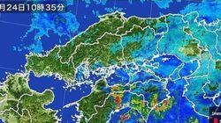 高知県で記録的短時間大雨情報