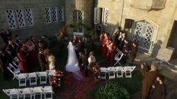 結婚式を撮影していたドローンは、すべてを捉えた。そう、すべてを(動画)