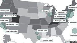 米国各地の「ストレス度」がわかる地図