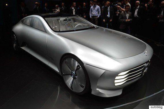 【フランクフルトモーターショー2015】走行中に変形する空力ボディを持つ、メルセデスのコンセプトカー「IAA」