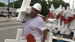 【オーランド銃乱射事件】2000キロを走って49本の十字架を届けた男