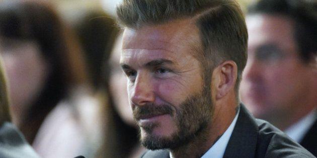 LAS VEGAS, NV - APRIL 28: Former soccer player David Beckham looks on during a Southern Nevada Tourism...