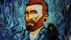 ゴッホの傑作を水面に描くトルコ人アーティストの作品は、はかなくも美しい(動画)