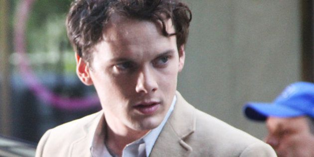 NEW YORK,NY JUNE 5: Anton Yelchin on the set of 5 to 7 in New York City. June 5, 2013. Credit: RW/MediaPunch