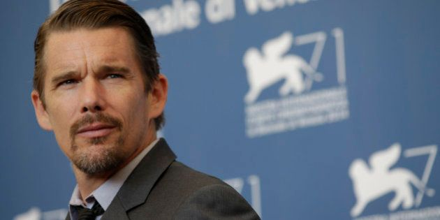 Actor Ethan Hawke poses for photographers during the Good Kill photo call, the 71st edition of the Venice...