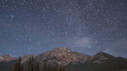 「ロッキー山脈の星空」 アルバータの暗い夜空を堪能