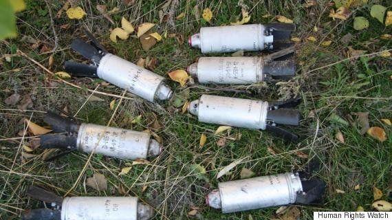 2015年に5カ国でクラスター爆弾の使用