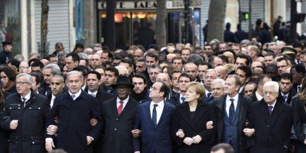 From left : European Commission President Jean-Claude Juncker, Israeli Prime Minister Benjamin Netanyahu,...