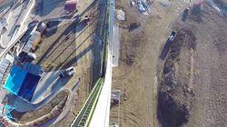 「17階建てのビル」から落下、恐怖のウォータースライダー(動画)