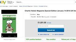 「シャルリー・エブド」最新号、オークションで約1800万円もの値がつく