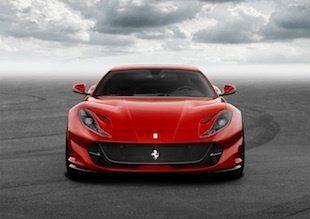 フェラーリ、800馬力の新型「812スーパーファスト」を世界初公開(画像集)