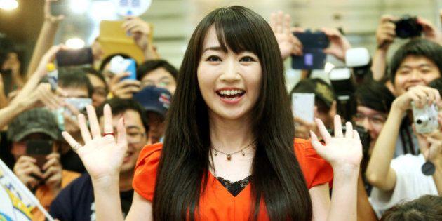 TAIPEI, TAIWAN - OCTOBER 03: (CHINA AND TAIWAN OUT) Japanese voice actress Nana Mizuki arrives at Taipei...
