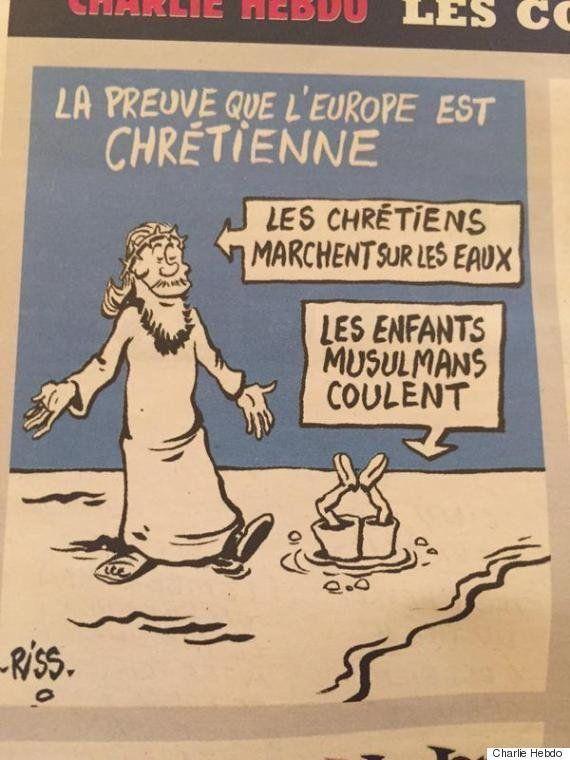 「ヨーロッパがキリスト教の国である証拠」と題された風刺画
