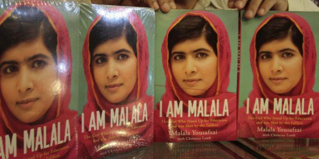 ISLAMABAD, PAKISTAN - OCTOBER 8: Pakistani teenager activist Malala Yousafzai's book, 'I Am Malala' seen...