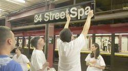 NYの地下鉄駅が本物のサウナになったら(動画)