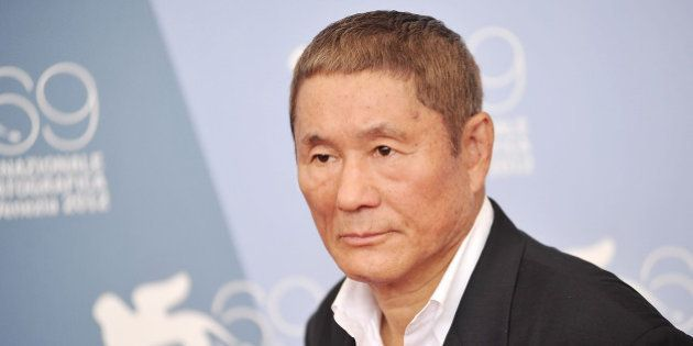 VENICE, ITALY - SEPTEMBER 03: Takeshi Kitano attends the 'Outrage Beyond' photocall at the 69th Venice...