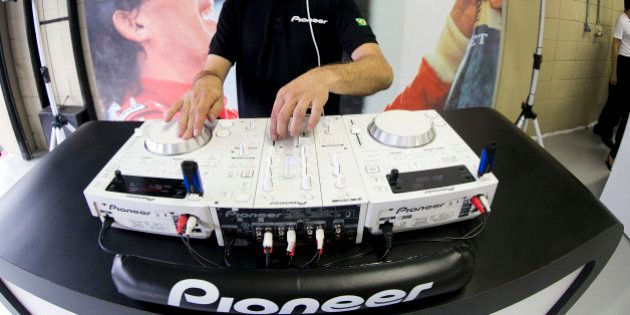 SAO PAULO, BRAZIL - DECEMBER 01: Pioneer Dj during the Ayrton Senna Racing Day - Relay Marathon at the...
