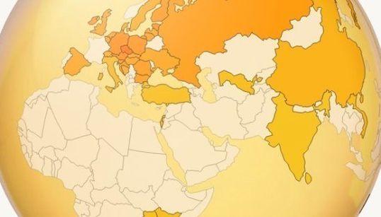 ビールの消費量が一番多い国は意外にも...(インタラクティブ地球儀)