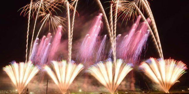 2015年に開催された「大曲の花火」