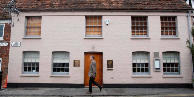 UNITED KINGDOM - NOVEMBER 09: A pedestrian passes the Fat Duck restaurant in Bray, Berkshire, U.K., on...