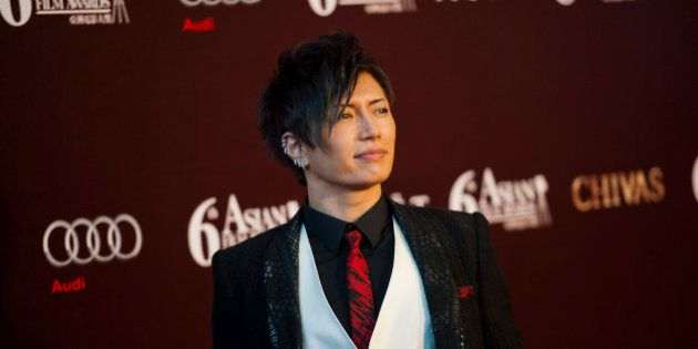 HONG KONG - MARCH 19: Japanese singer and actor Gackt poses at the red carpet during the 6th Asian Film...
