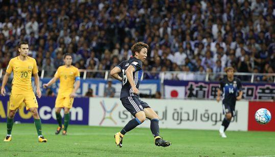 日本、ワールドカップ出場決定 サッカー、オーストラリアを2-0で下す
