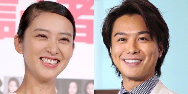 結婚を発表した武井咲さん(左)とEXILEのTAKAHIROさん
