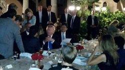 トランプ大統領、安倍首相と北朝鮮ミサイル問題を協議 おいおい、一般人が撮影してSNSに投稿してるよ