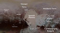 『はやぶさ大地』冥王星の地名になる。「日本の探査機に敬意を表した」